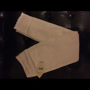 Lucky Brand White Crop Jeans